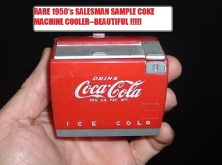 RARE Vintage 1950 Coca Cola Soda Pop Machine SALESMAN SAMPLE Bottle
