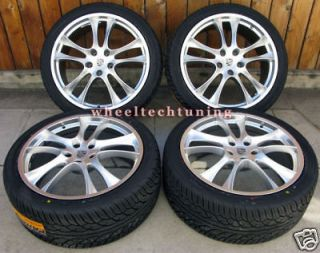 20 PORSCHE CAYENNE GTS STYLE WHEEL AND TIRE PACKAGE   SILVER WHEELS