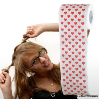 LOVE HEART VALENTINE Toilet Paper roll ~ Bath Decor