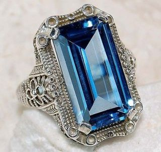 london blue topaz ring in Vintage & Antique Jewelry