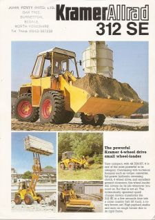 Brochure   Kramer Allrad   312SE   Wheel Loader   1982 (EB446