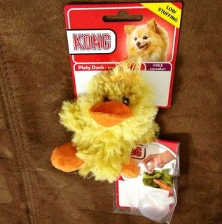 Kong Platy Duck Small Squeeker Dog Toy