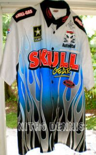 NHRA MELANIE TROXEL Crew Shirt TOP FUEL SIGNED Funny Car DSR Racing