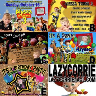 Toy Story Birthday Invitation PERSONALIZED w/ PHOTO and Matching Thank