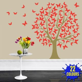Butterfly Tree   Wall Decal Art Sticker lounge living room bedroom