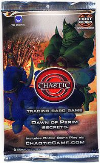 Chaotic Trading Card Game TCG Dawn of Perim Secrets Booster Pack