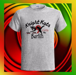 KNIGHT KATS BERLIN 9 Lives Beige ERROR Johnson Motors Mens T Shirt S