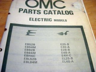 Evinrude Johnson Trolling Motor Parts Manual 1981 OMC