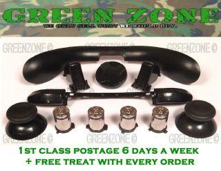 Custom Xbox 360 Controller Full Set Of Bullet Buttons Brass + Black