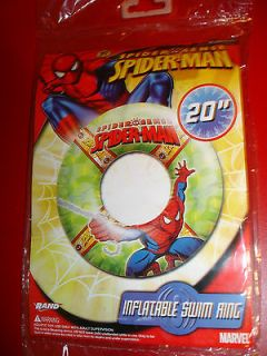 MARVEL SPIDERMAN 20 SWIM RING INFLATABLE FUN POOL TOY FLOAT DONUT
