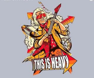 Teefury Back To The Future Doc Brown Shirt XL Heavy Biff Marty McFly