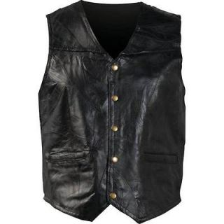 Mens/Womens Leather Motorcycle Casual VEST Waist Coat~S M L XL 2X 3X
