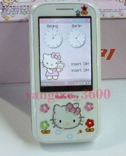 V1 hello kitty slide Touch screen keying Unlocked cell phone Quad Band