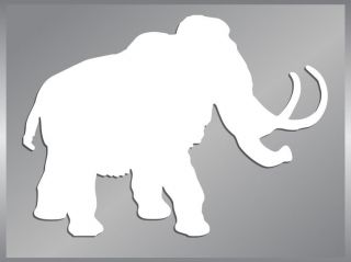WOOLY MAMMOTH cut vinyl decal car sticker #1 to 6