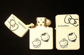 Hello Kitty oil lighter & extra1 package Zippo 6 Flints USA seller