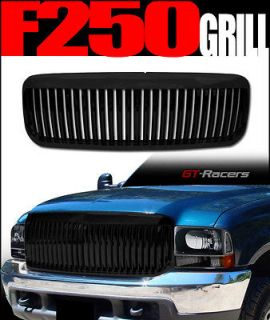BLACK VERTICAL FRONT HOOD BUMPER GRILL GRILLE ABS 1999 2004 FORD F250