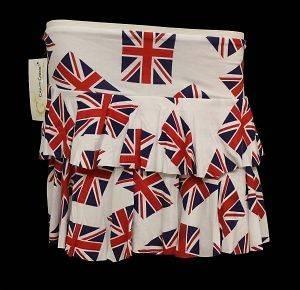 Girls Diamond Jubilee England Union Jack Team GB Euro 2012 Ra Ra Skirt