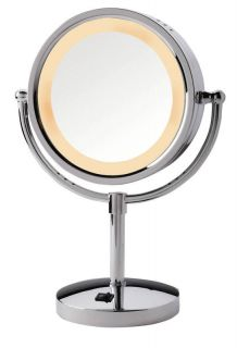5X 1X Magnification Halo Lighted Vanity MakeUp Mirror HL745CO NEW