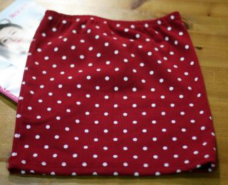 Ladies Colorful Lovely Polka Dot A line Mini Stretch Base Mini Short