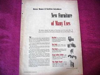 1940s VINTAGE AD   DREXEL FURNITURE   EDWARD J. WORMLEY DESIGNER