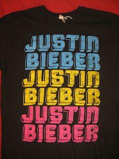 Womens Teens or Pre teen JUSTIN BIEBER Black T Shirt size small s sm