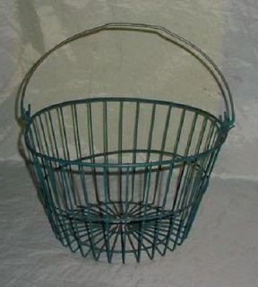 Vintage Primitive Farm Wire Egg Vegetable Basket Farm