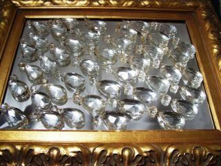 Victorian Tear drop Cut Crystal Jewel Prism Chandelier Lamp Part