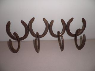 ~Rustic 1 Hook Horseshoe Coat/Hat Rack~Made from an Antique Horseshoe