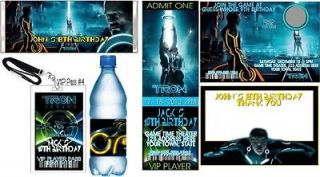 Tron Legacy Personalized Birthday Invitations & Favors