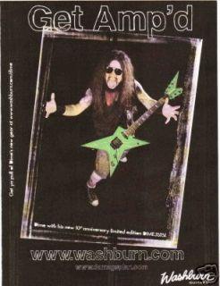 2004 Ad Washburn Guitars Dimebag Darrell Model Pantera