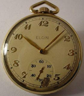 ANTIQUE ELGIN POCKET WATCH 15 JEWELS GOLD FILLED MODEL 546