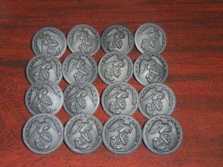 Marine Corp Black Plastic Button Lot of 16 1 NEW