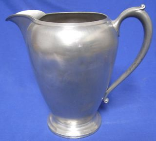 Antique Pewter Water Pitcher Signed 1508 Help Maker ? Minor Dents