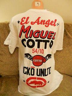 New Mens MMA Mark Ecko Unltd Miguel Cotto White Black Camp T Shirt