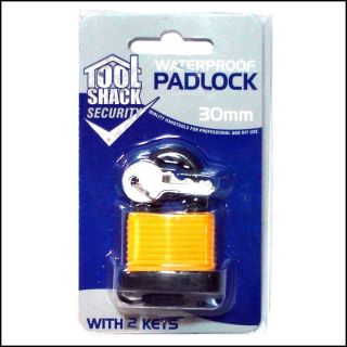 30mm WATERPROOF PADLOCK GARAGE/GATE/SHED SECURITY SAFETY LOCK WITH 2