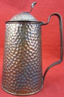 & CRAFTS Hammered COPPER Water PITCHER English England Hand Crafted