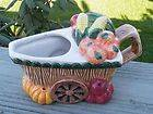VINTAGE NORITAKE HAND PAINTED VEGETABLE WHEEL BARREL WAGON CREAMER