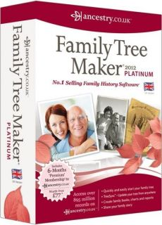 FAMILY TREE MAKER 2012 UK PLATINUM VERSION   NEW