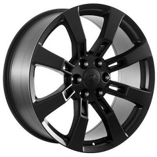 black wheels rims fit 2009 Chevy Silverado Trucks also Avalanche Tahoe