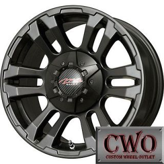 15 Black MB TKO Wheels Rims 5x4.75 5 Lug Sonoma Chevy S 10 Blazer
