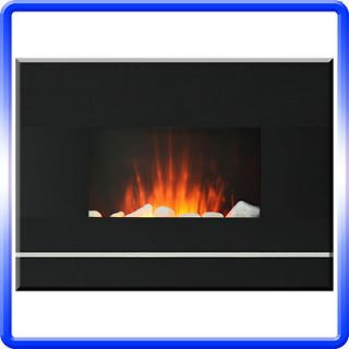 ELECTRIC WALL MOUNT FIREPLACE w/DIGITAL REMOTE 650/1350 WATT 100%