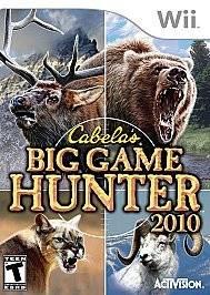 WII CABELAS BIG GAME HUNTER NINTENDO VIDEO GAME