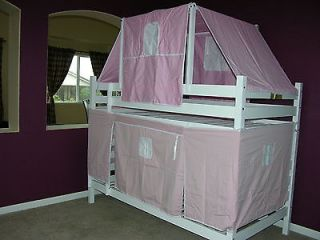 Girl Pink Tent Set With Canopy For Twin Loft Bunk Bed NEW