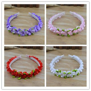 Wholesale 12 Pcs Children Jewelry Multi Color Flower Girls Hair band