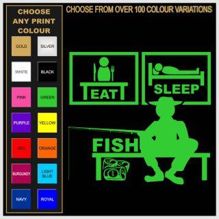Eat Sleep Fish T shirt Fishing Tackle Rod Reel all size