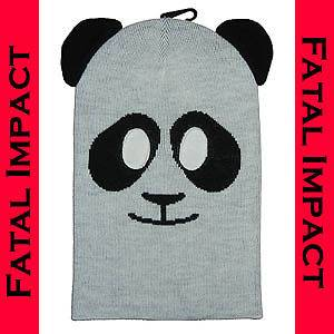 New Punk Panda Black White Knit Ski Mask Anime Gothic Lolita Japan