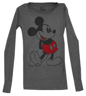 Mickey Mouse Disney Happy Vintage Style Juniors Babydoll T Shirt Tee