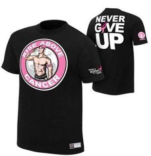 Cena Rise Above Cancer Mens Authentic WWE Shirt Sz Medium Ships Free