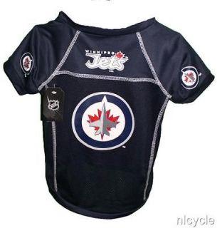 Winnipeg Jets NHL Pet Dog Dark Blue Jersey Shirt S M L XL