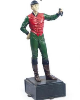 POLYCHROME PAI​NTED CAST IRON LAWN JOCKEY 21 CLUB NEW YORK CITY